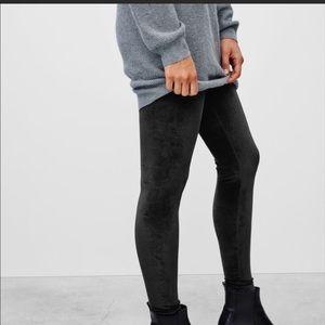 Aritzia Talula velvet manhattan pant leggings